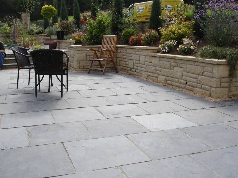 While The Durable And Resilient Qualities Of Bluestone Make This Paver  Ideal For Practicality, Sandblasted Blue Limestone Is An Ageless And  Aesthetically ...