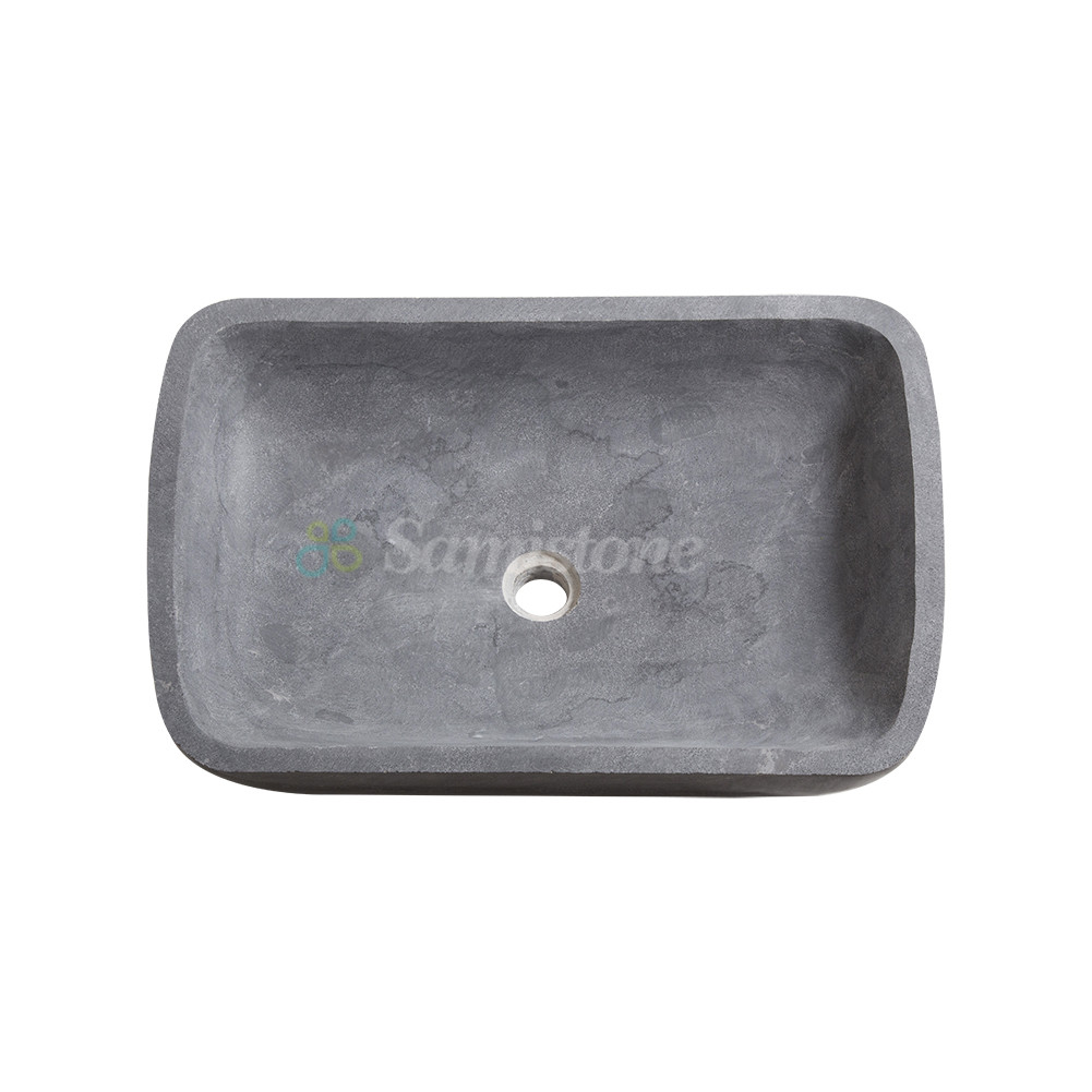 Samistone Blue Limestone Sandblasted Outdoor Garden Sink China Factory