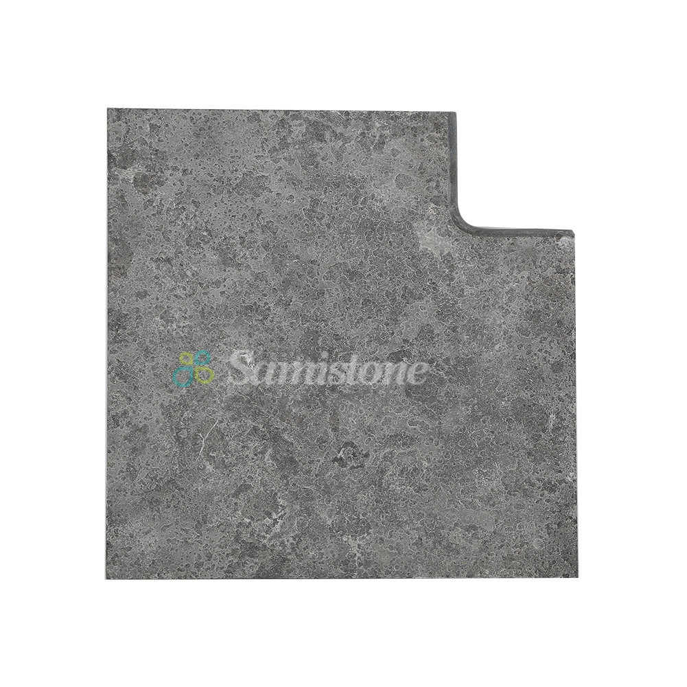 Samistone Blue Limestone Flamed Antiqued Swimming Pool Coping Stones ...