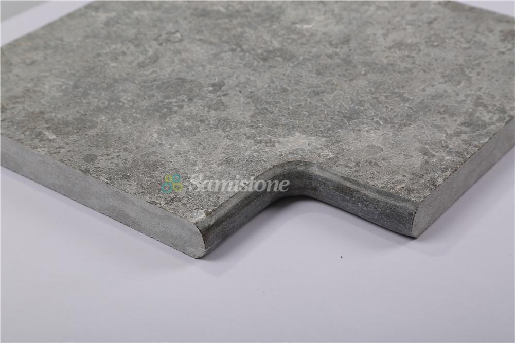 Samistone Blue Limestone Flamed Antiqued Swimming Pool Coping Stones China Factory Samistone