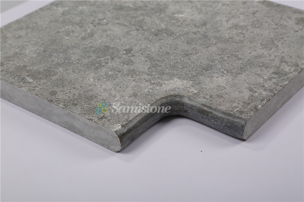 Samistone Blue Limestone Antiqued Swimming Pool Coping Stone Tiles ...