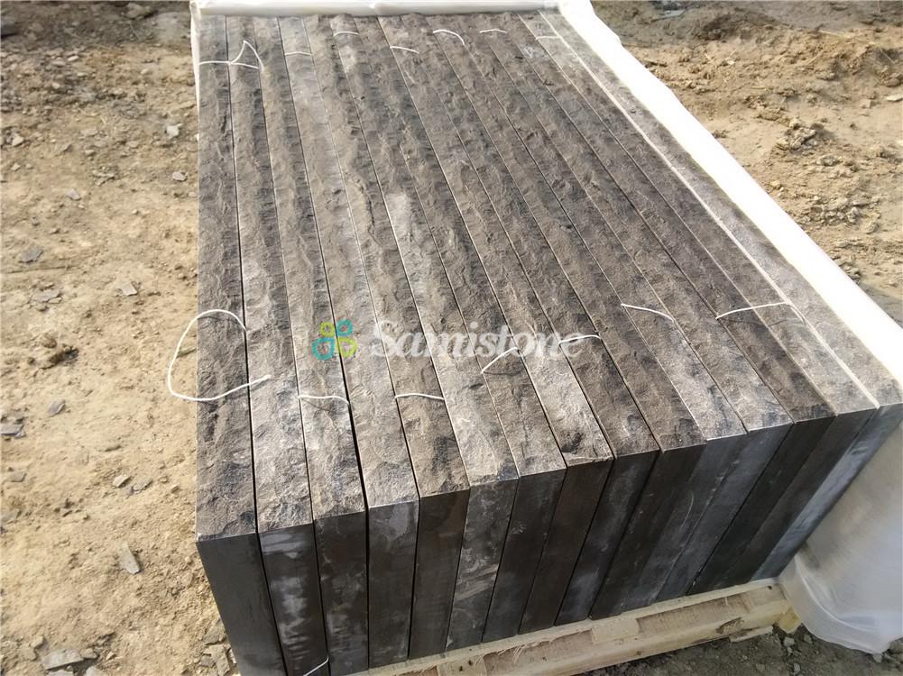 Samistone Blue Limestone Acid Wash Flooring Tiles China Factory