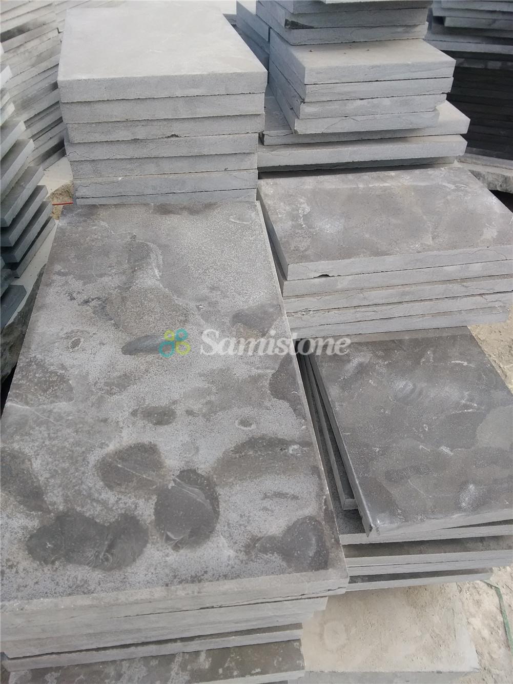 Samistone Blue Limestone Acid Wash Flooring Tiles