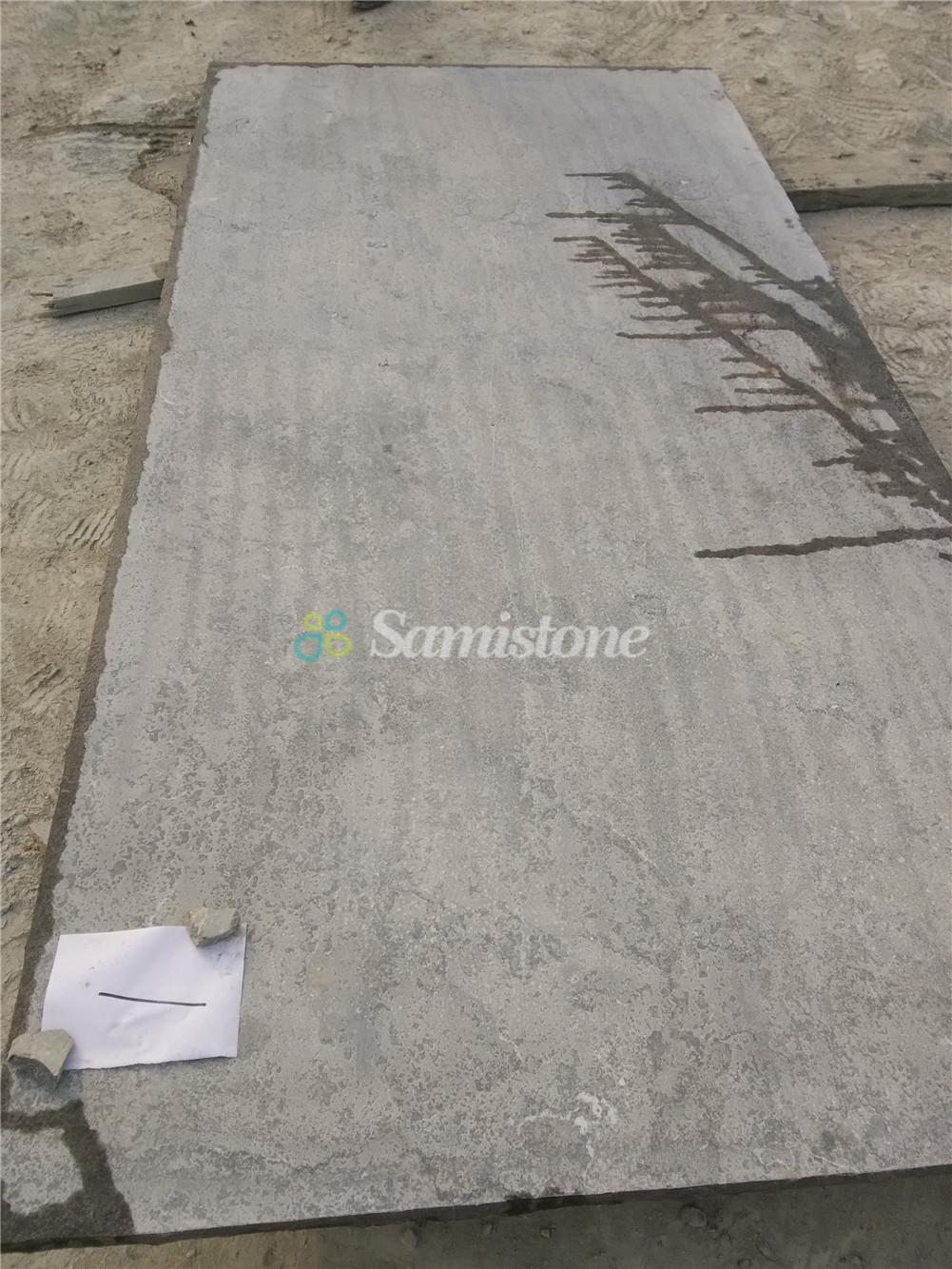Samistone Blue Limestone Polished Slab Paver Outdoor