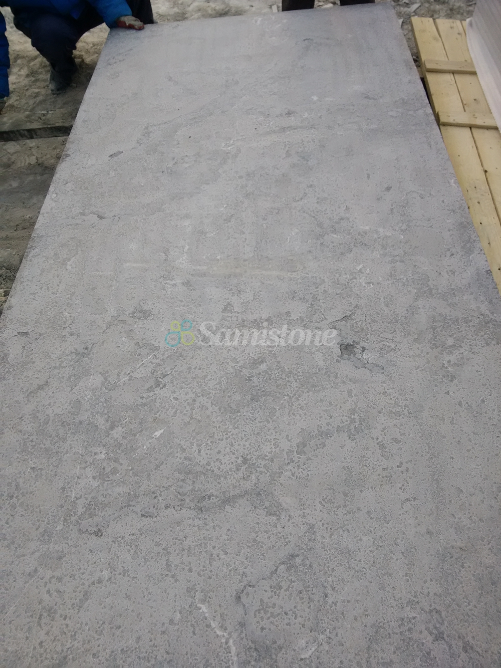 Samistone bluestone flamed & brushed slabs countertops