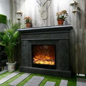 Blue Limestone Fireplace (12)