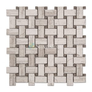 Samistone-Wood-Light-Grain-Marble-Basketweave-Mosaic-Tile-China