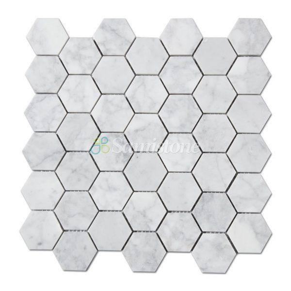 samistone-carrara-white-marble-2-hexagon-mosaic-tile