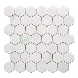 samistone-stataury-white-marble-2-inch-hexagon-mosaic-tile