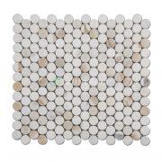Samistone-Calacatta-Gold-Marble-1-inch-Penny-Round-Mosaic