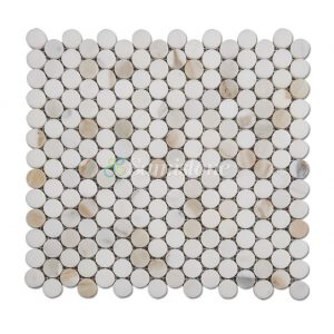 Samistone-Calacatta-Gold-Marble-1-inch-Penny-Round-Mosaic