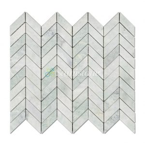 Samistone-Ming-Green-Marble-Chevron-Mosaic