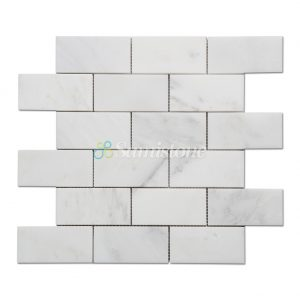 Samistone-Statuary-White-Marble-2x4-Brick-Mosaic