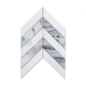 Samistone-White-and-Grey-Marble-Chevron-Mosaic