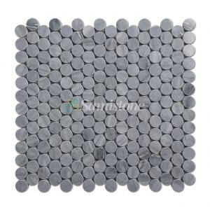 centurymosaic-Samistone-Jiangxi-Grey-Marble-1-Penny-Round-Mosaic