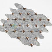 CTR-MM-LC15009 Babylon Gray Diamond Mirror Glass Long Octagon (2)