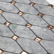 CTR-MM-LC15009 Babylon Gray Diamond Mirror Glass Long Octagon (3)
