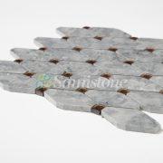 CTR-MM-LC15009 Babylon Gray Diamond Mirror Glass Long Octagon (5)