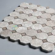 CTR-MM-SC15028 Wood Light Grain & Athens Gray Square Octagon(3)