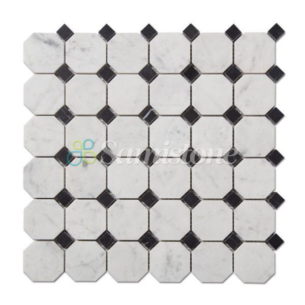 CTR-MM-SC15041-Bianco-Carrara-Nero-Marquina-Square-Octagon--(1)