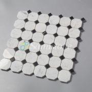 CTR-MM-SC15041 Bianco Carrara Nero Marquina Square Octagon (2)