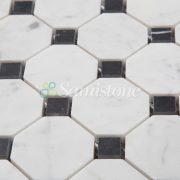 CTR-MM-SC15041 Bianco Carrara Nero Marquina Square Octagon (4)