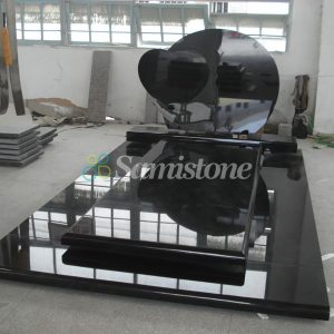 Samistone Black Granite Tombstone Monument European Style Design